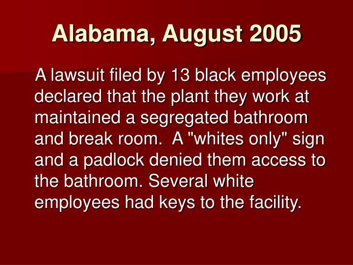 Alabama, August 2005