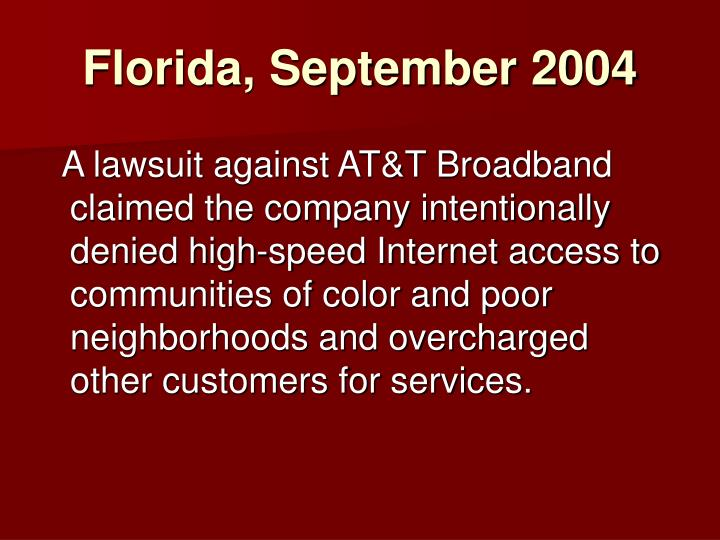 Florida, September 2004