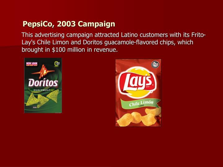PepsiCo, 2003 Campaign