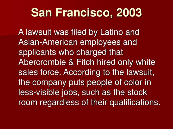 San Francisco, 2003