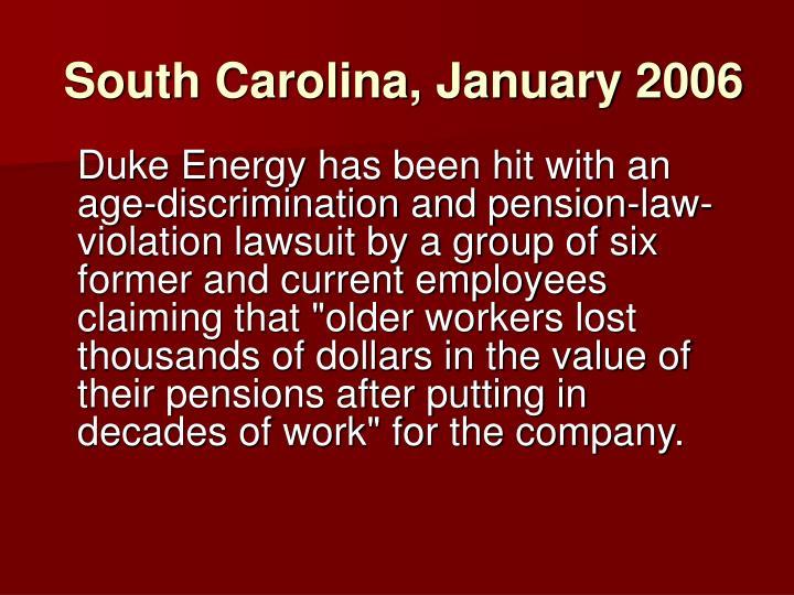 South Carolina, January 2006