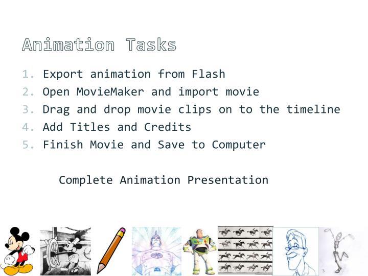 Animation Tasks