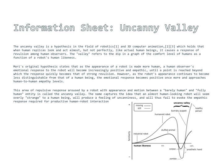 Information Sheet: Uncanny Valley