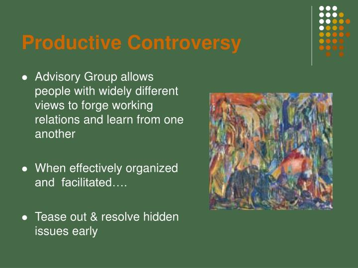 Productive Controversy