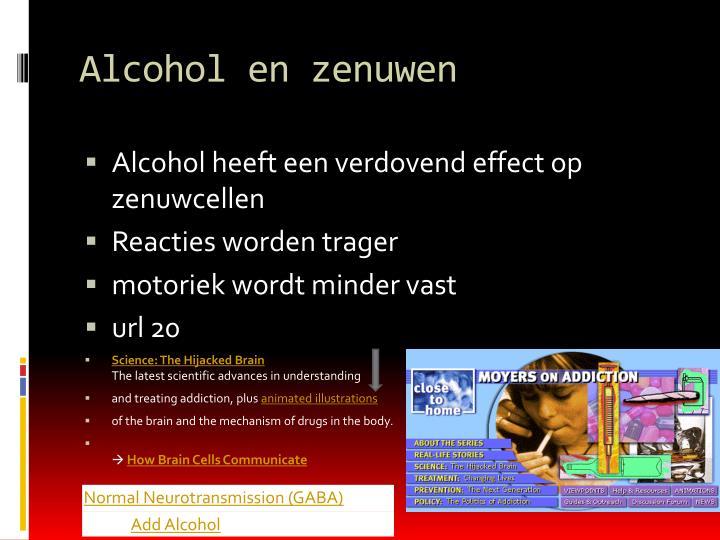 Alcohol en zenuwen