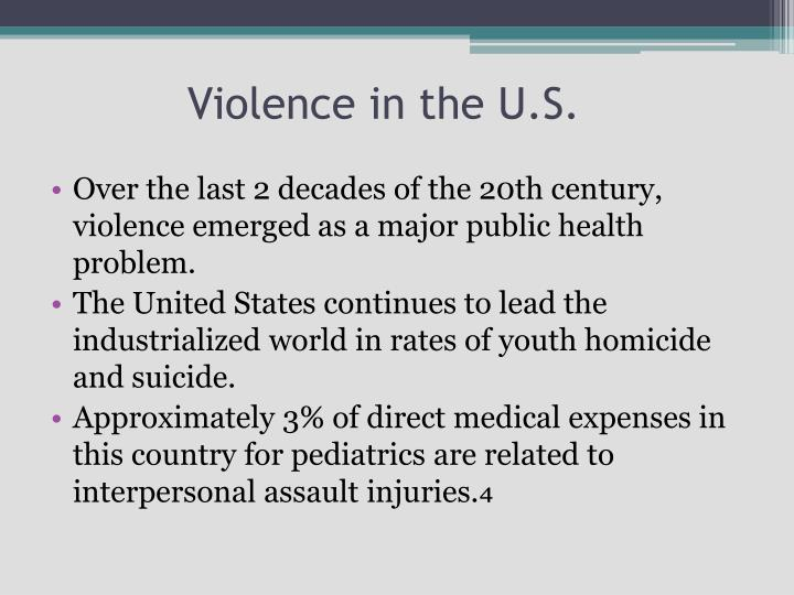 Violence in the U.S.