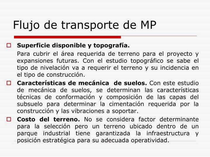 Flujo de transporte de MP
