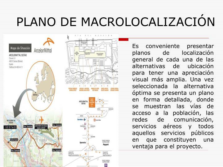 PLANO DE MACROLOCALIZACIÓN