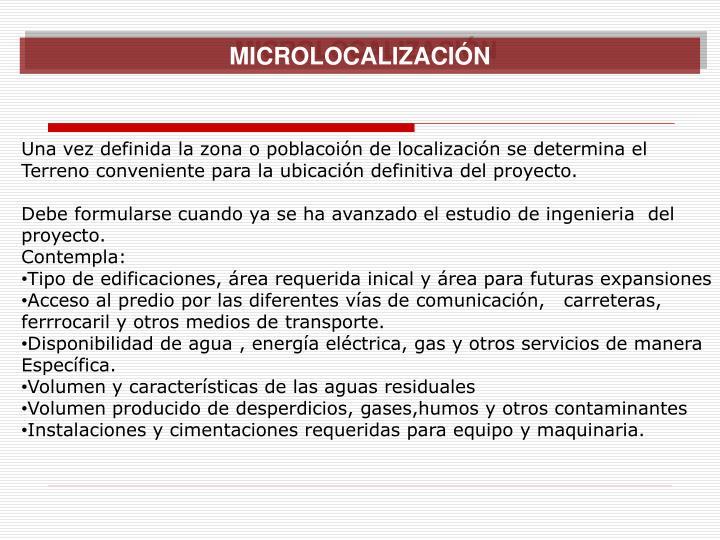 MICROLOCALIZACIÓN