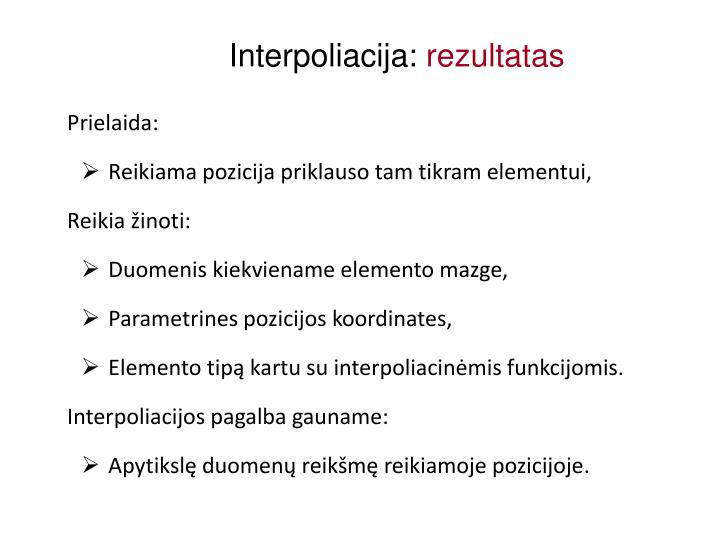 Interpoliacija: