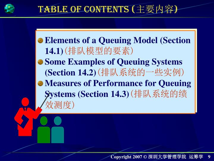 Elements of a Queuing Model (Section 14.1)