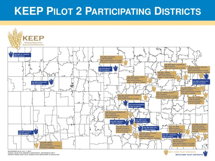 KEEP Pilot 2 Participating Districts