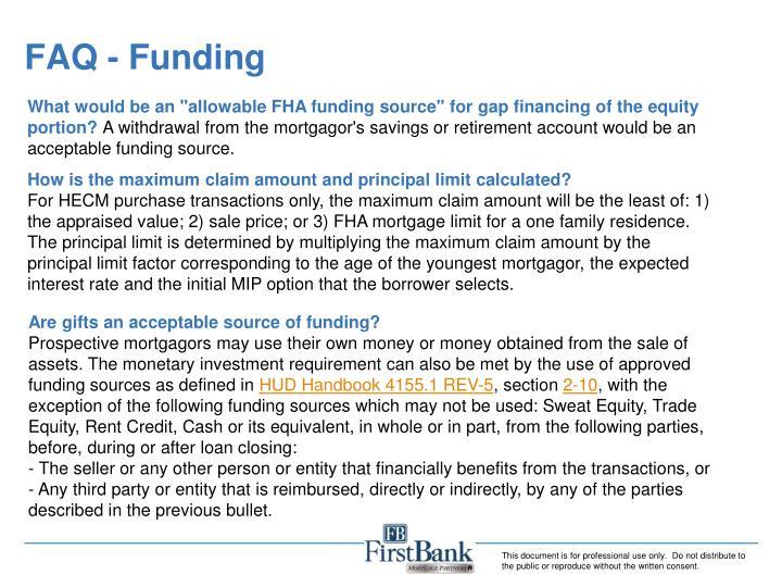 FAQ - Funding