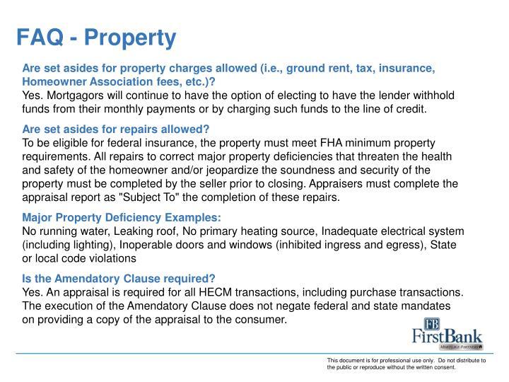 FAQ - Property