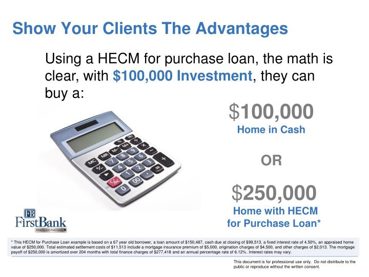 Show Your Clients The Advantages