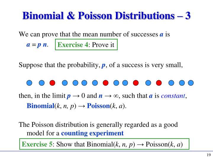 Binomial & Poisson Distributions – 3