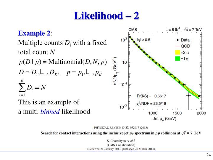 Likelihood – 2