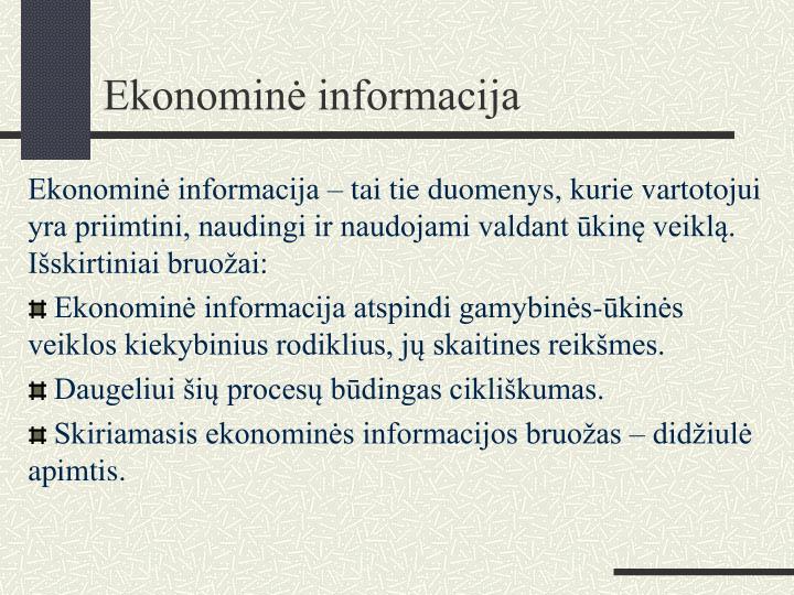Ekonominė informacija