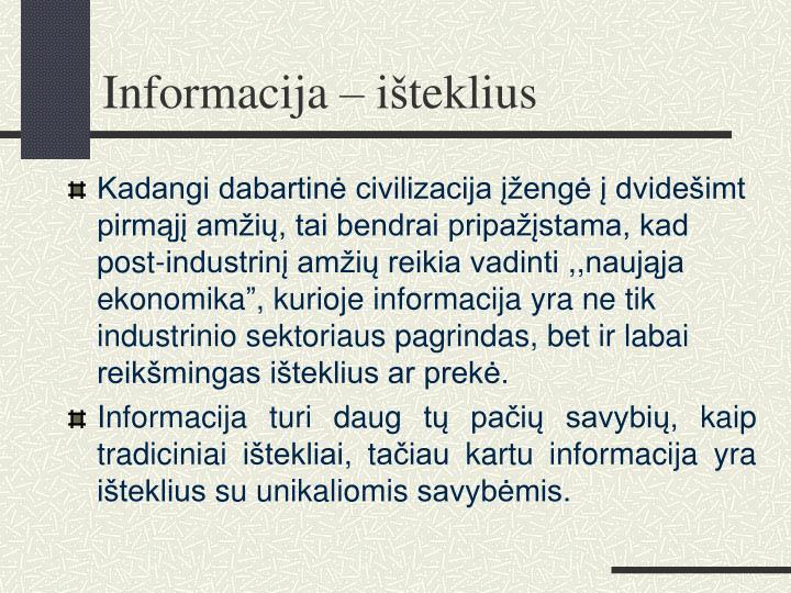 Informacija – i