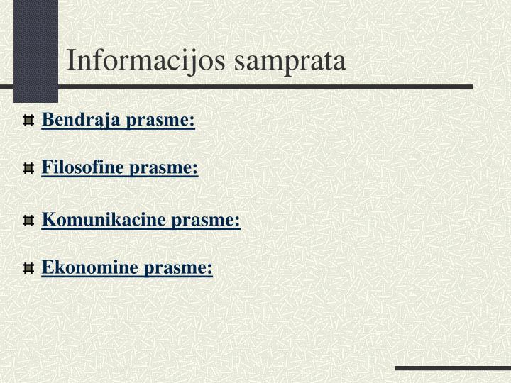Informacijos samprata