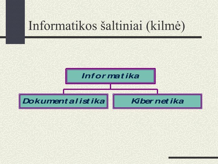 Informatikos šaltiniai (kilmė)