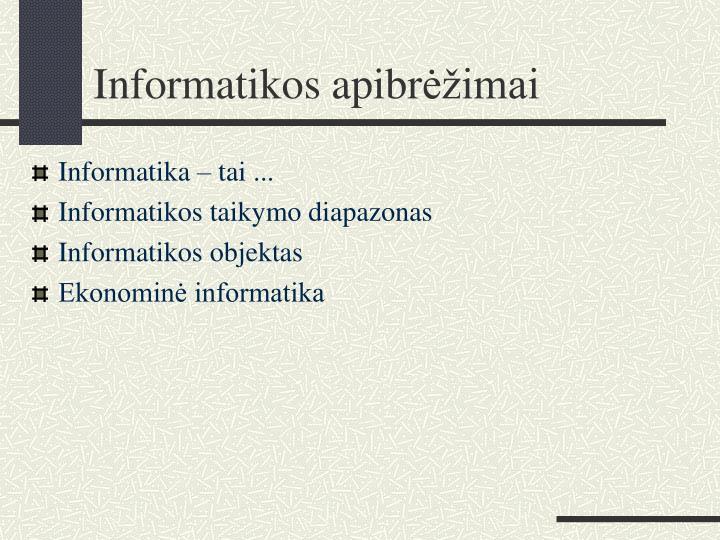 Informatikos apibr