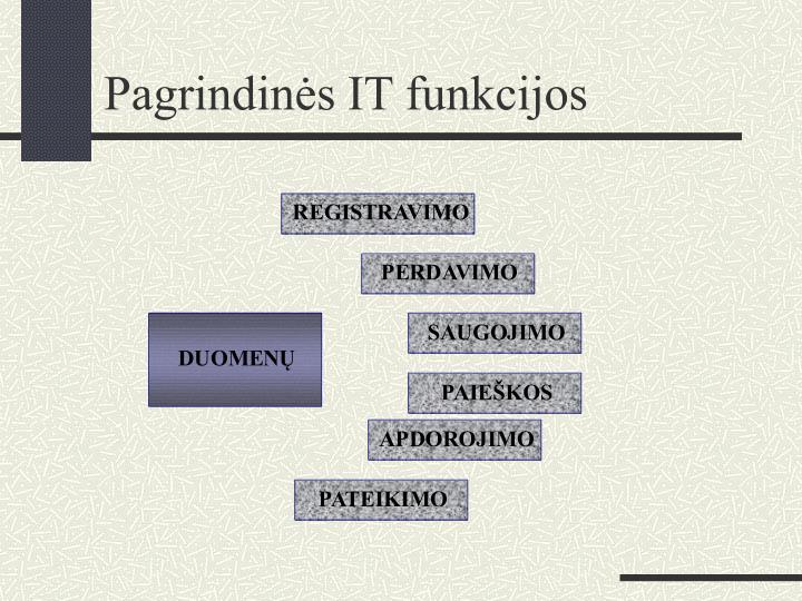 Pagrindinės IT funkcijos