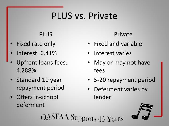 PLUS vs. Private