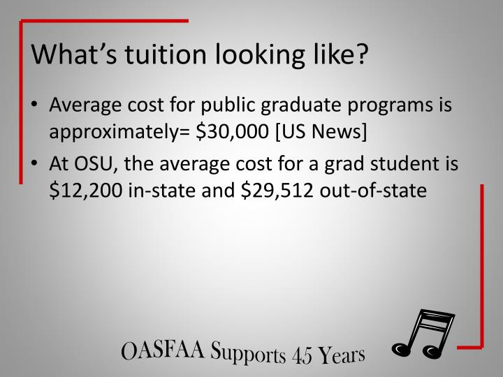 What's tuition looking like?