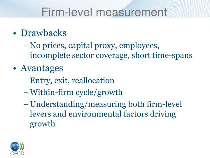 Firm-level measurement
