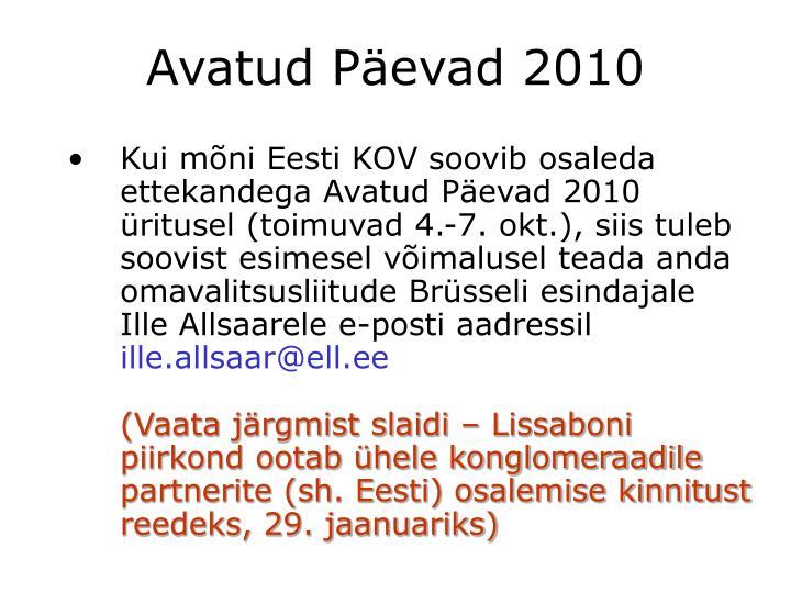 Avatud Päevad 2010