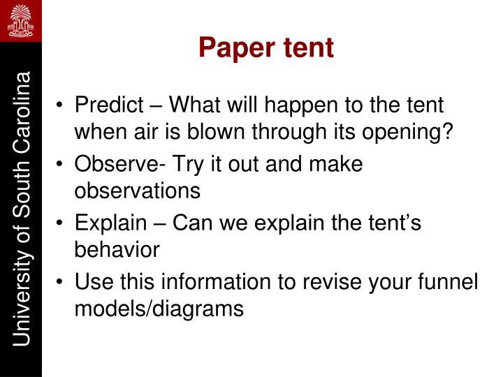 Paper tent