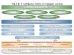 fig 4 1 a company s menu of strategy options