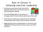 keys to success in achieving low cost leadership