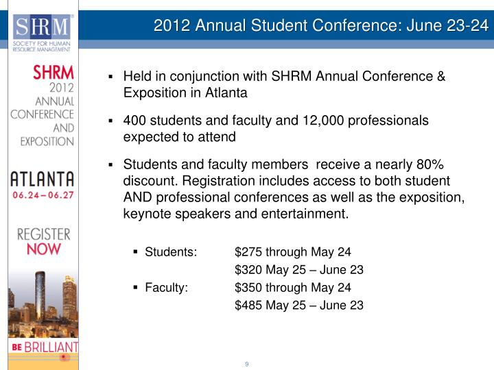 2012 Annual Student Conference: June 23-24