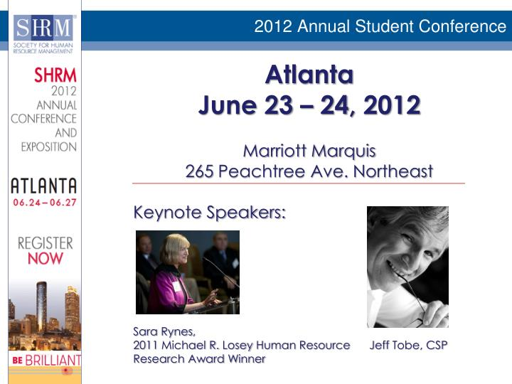 2012 Annual Student Conference