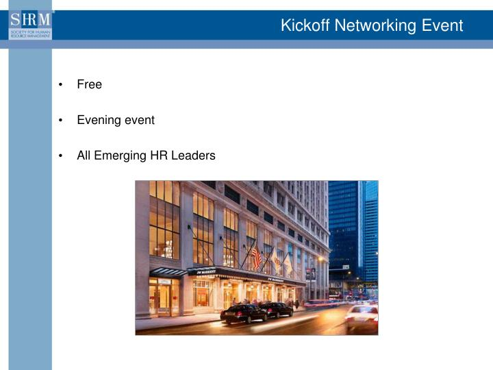 Kickoff Networking Event