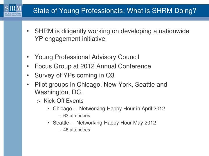 State of Young Professionals: What is SHRM Doing?