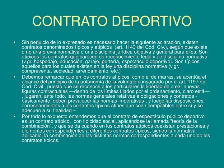 CONTRATO DEPORTIVO