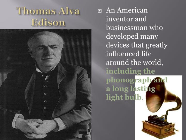 Thomas Alva