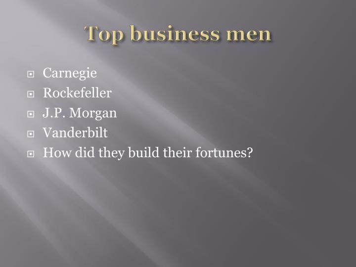Top business men