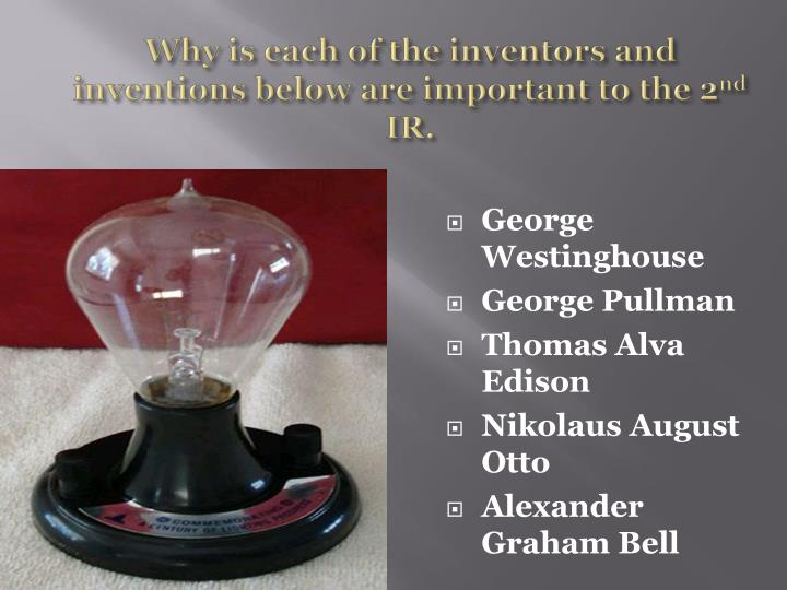 Why is each of the inventors and inventions below are important to the 2