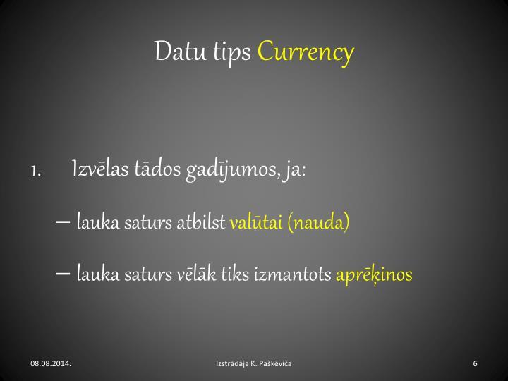 Datu tips