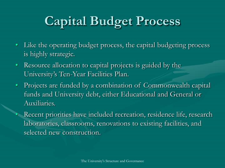 Capital Budget Process