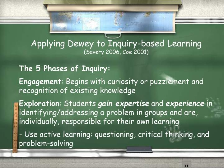 Applying Dewey to Inquiry-based Learning