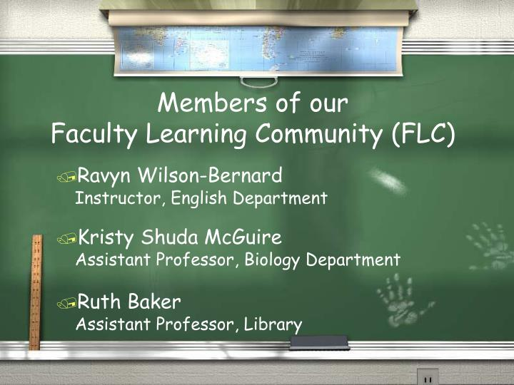 Members of our faculty learning community flc