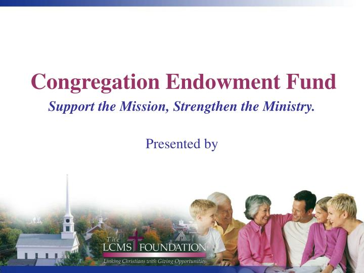Congregation endowment fund