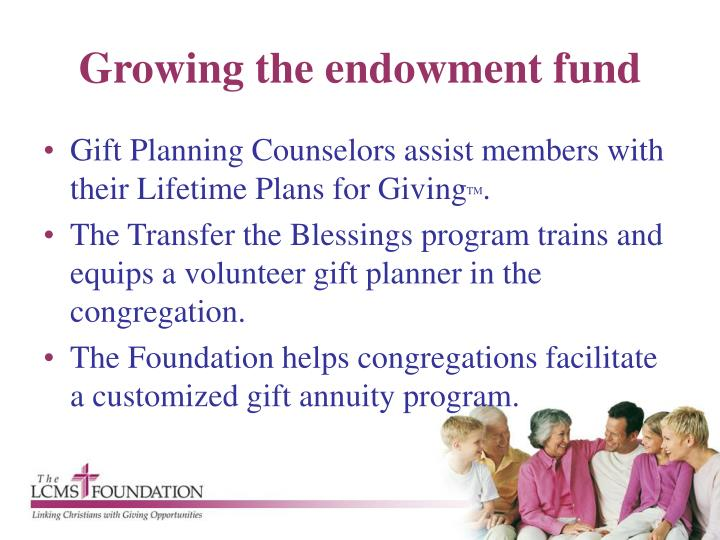 Growing the endowment fund