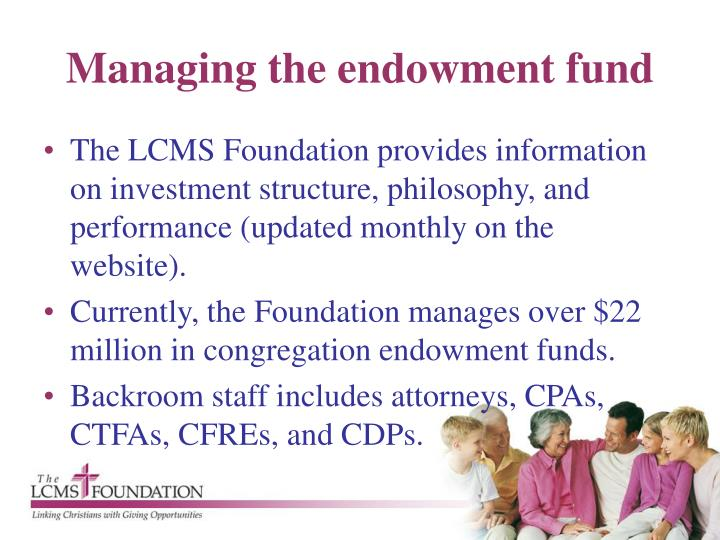 Managing the endowment fund
