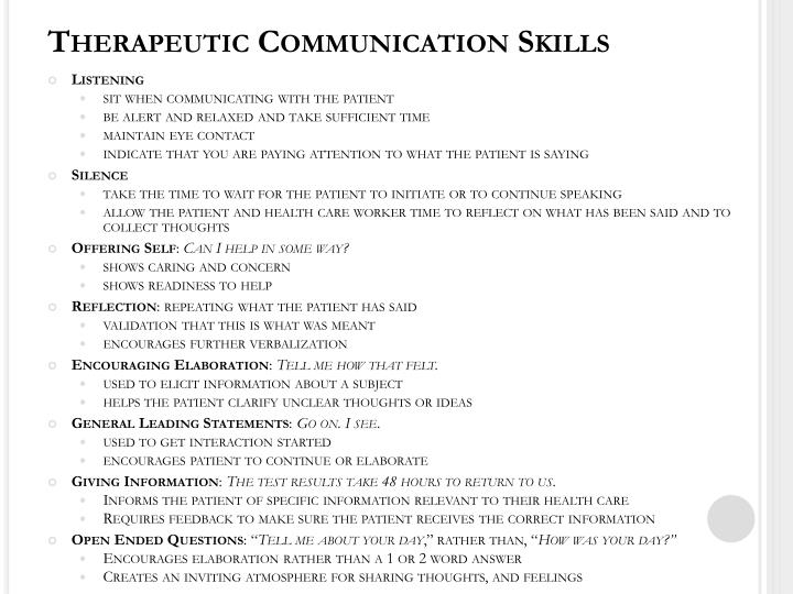 Non therapeutic communication techniques